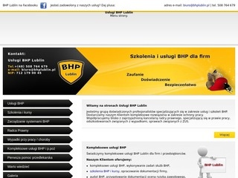 Bhplublin.pl szkolenia BHP Lublin