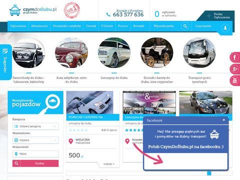 Czymdoslubu.pl - samochody na ślub