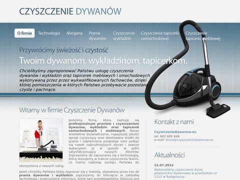 Czyszczenie dywanów i wykładzin - Bydgoszcz