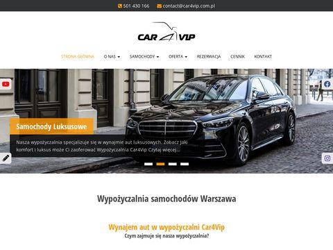 Car4Vip Warszawa - wypożyczalnia samochodów