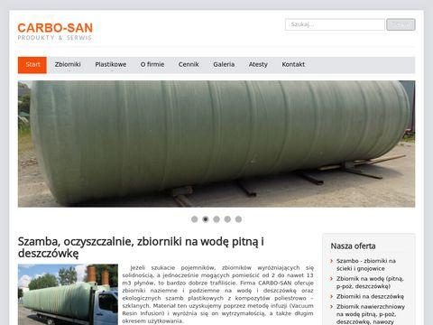 Carbo-san.com zbiorniki na wodę, szamba