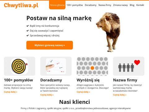 Chwytliwa.pl nazwa firmy