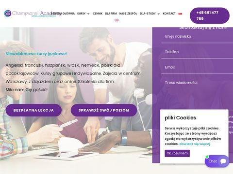 Kursy językowe dla firm champions-academy.pl