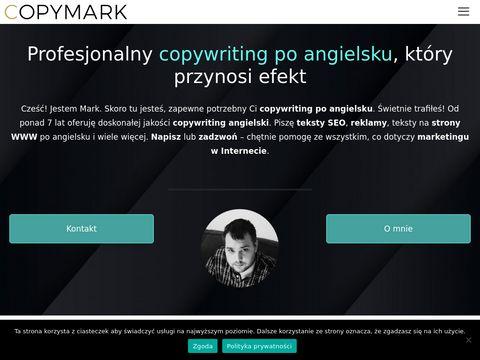 Copymark.eu copywriter angielski
