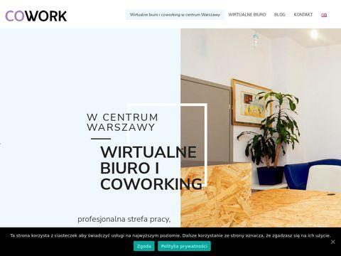 Cowork.com.pl wirtualne biuro Warszawa centrum