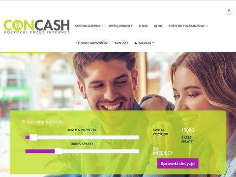 Concash.pl pożyczki pozabankowe bez BIK