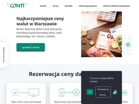 Kantor wymiany walut Warszawa