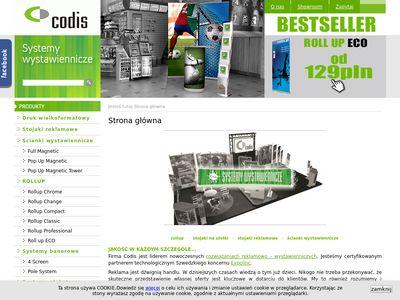Codis.pl ścianki wystawiennicze