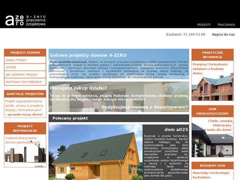 A-zero.pl projekty domów, nowoczesne projekty gotowe
