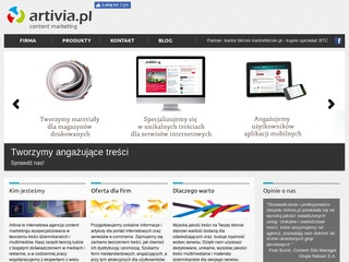 Artivia.pl - agencja content marketing