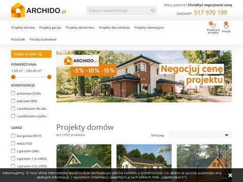 Archido.pl projekty tanich domów