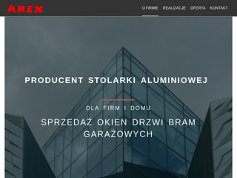 Arexkartuzy.pl producent stolarki aluminiowej