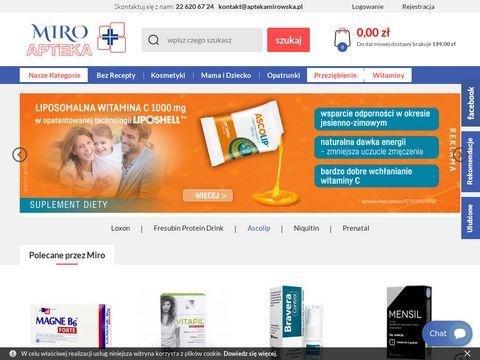 Aptekamirowska.pl leki na problemy skórne