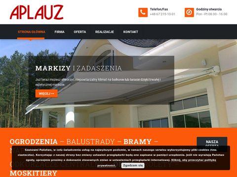Aplauz.pila.pl bramy i ogrodzenia, rolety, żaluzje