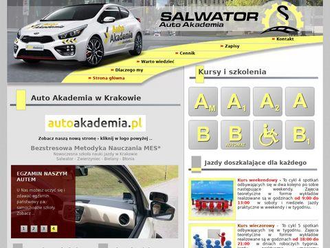 Autosalwator.pl nauka jazdy Kraków