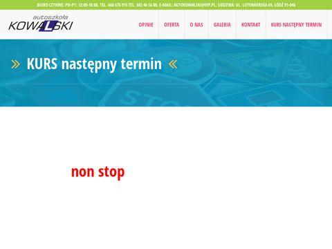 Auto szkoła Łódź - Kowalski