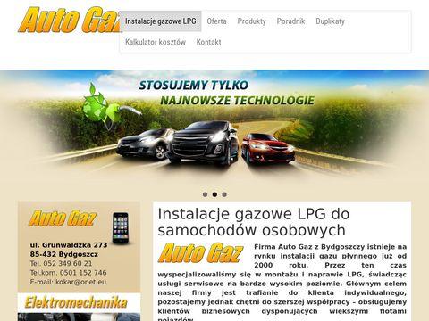 Autogazbydgoszcz.pl montaż LPG Bydgoszcz