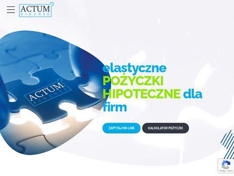 Actum-finanse.pl kredyt