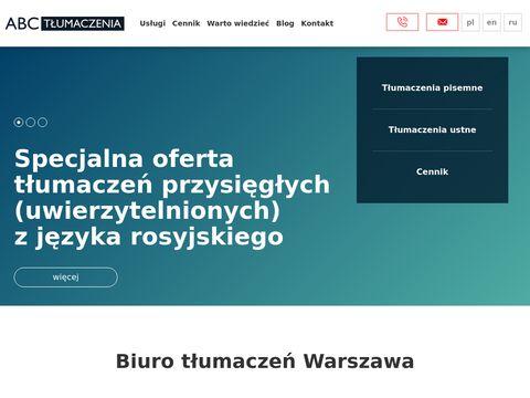 ABC Tłumaczenia - biuro Warszawa