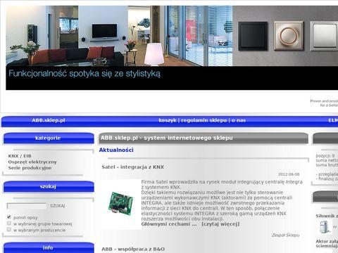 ABB.sklep.pl - podzespoły dla inteligentnych instalacji KNX/EIB
