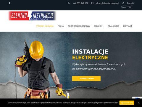 Adrianszopa.pl pomiary elektryczne Wrocław