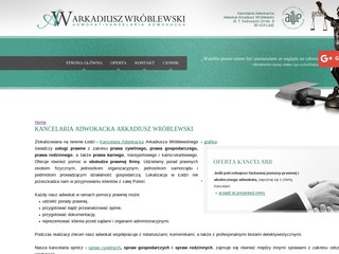 Adwokatwroblewski.com.pl porady prawne Łódź