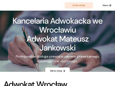 Mateusz Jankowski - adwokat Wrocław