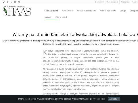 Adwokat Łukasz Haas kancelaria adwokacka