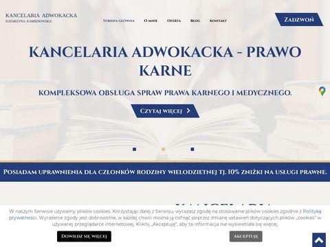 Katarzyna Kamienowska prawo karne Wrocław