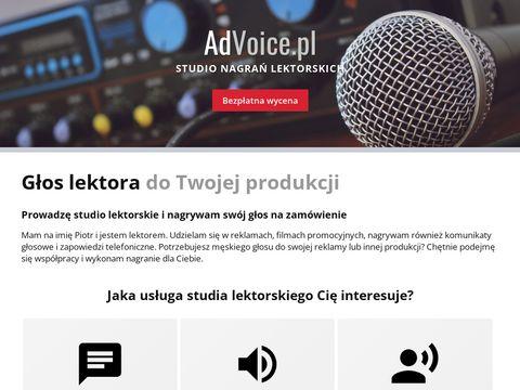 AdVoice.pl głos lektorski do reklam