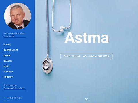 Adamantczak.pl astma Łódź