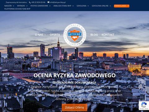 Aktyw-bhp.pl szkolenia Bhp kompleksowa obsługa