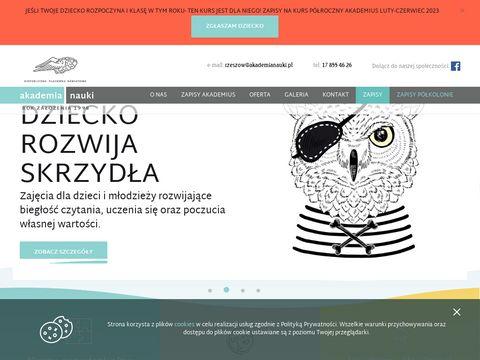 Akademianaukirzeszow.pl kursy dla dzieci