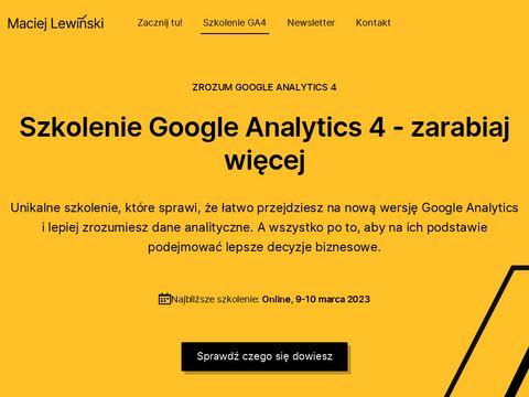 Szkolenia google analytics