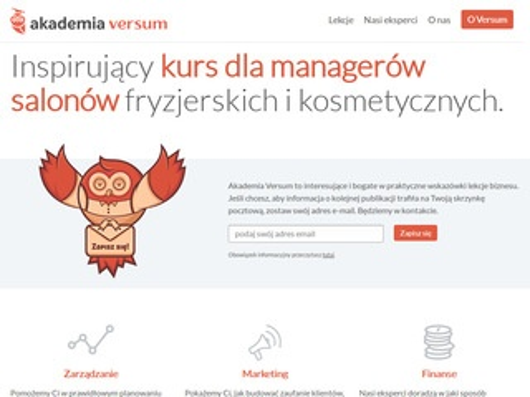 Akademia Versum - zarządzanie salonem kosmetycznym