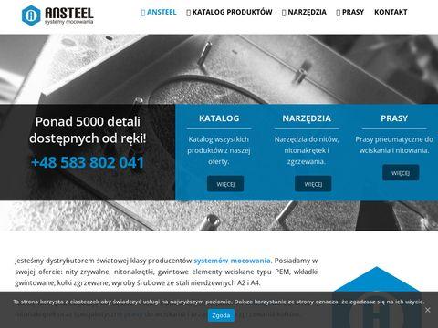 Ansteel - nitonakrętki nierdzewne