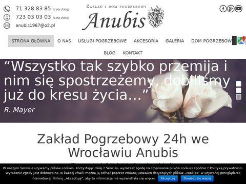 Anubis uroczystości pogrzebowe Wrocław