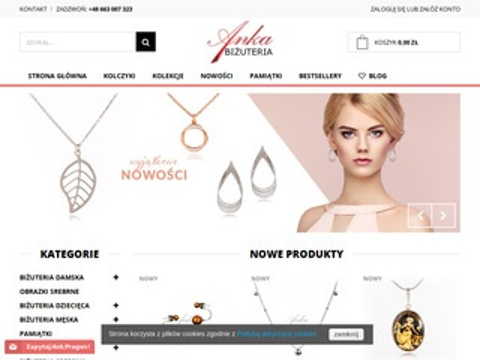Anka-bizuteria-sklep.pl wisiorki srebrne online