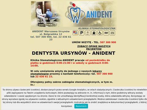 Anident.pl implanty zębów Warszawa