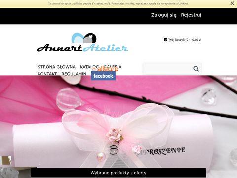 Annart-atelier.pl zaproszenia ślubne, podziękowania