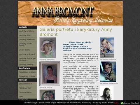 Portrety, karykatury annabromont.netgaleria.eu