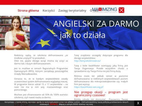 Angielskizdofinansowaniem.pl dla firm za darmo