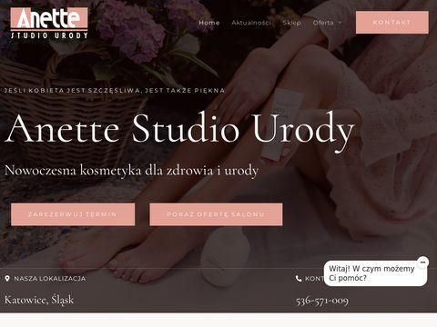 Anette.com.pl salon kosmetyczny Katowice