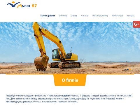 Ander 87 budowa przyłączy wodociągowych Poznań