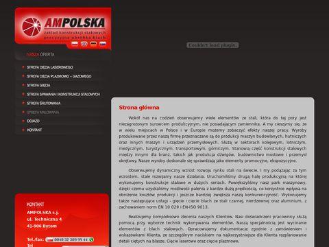 Ampolska.com.pl cięcie laserem, konstrukcje stalowe