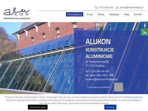Alukon.krakow.pl konstrukcje aluminiowe