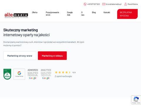 Alte Media - pozycjonowanie stron internetowych