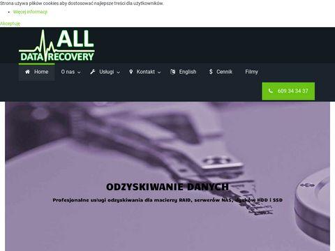 Alldatarecovery.pl odzyskiwanie z kart pamięci