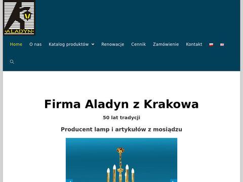 Aladyn lampa wieczna mosiężna Kraków