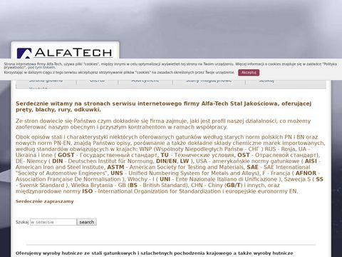 Alfa-tech.com.pl rury bezszwowe gatunkowe